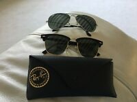 Ladies sunglasses 2 pairs with cases as new, very good condition