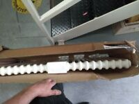 radiator, traditional cast iron style, new 21x2 column white, 98x59cm.