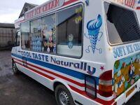 99t mercedes 310sprinter soft ice cream van {whitby built}