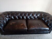 Large twin seat Chesterfield sofa
