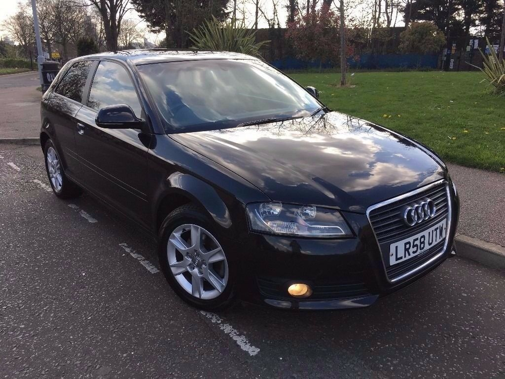 AUDI A3 2008 (58) 3 DOOR 2.0 DIESEL AUTOMATIC NEW SHAPE DAY LIGHT RUNNING LIGHT FULL AUDI HISTORY