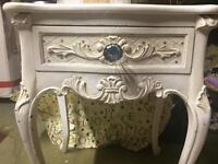Coach house shabby chic side table /bedside