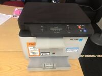 SAMSUNG COLOUR LASER PRINTER CLX-3305W ALL IN ONE (USED BUT IN GOOD CONDITION) NEEDS TO GO!