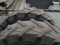 Pair of used tractor tyres 340/85Rx28 or 13.6Rx28