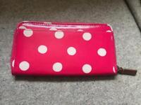 Genuine Cath kidston Pink Polka Dot purse wallet