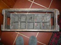 Retro Wooden Wine Crate