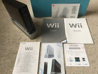 Nintendo Wii (Black) with games + lots of extras