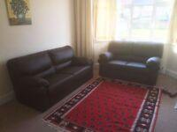 Leather sofa set for urgent sale