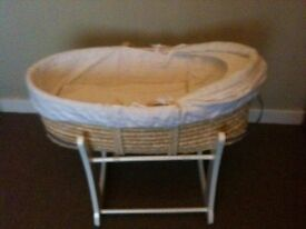 baby Moses basket .baby walkers and genguru £20 all iincl