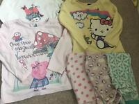 Bundle of girls pyjamas age 2-3 years