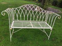 Wrought Iron garden bench. Seats 3 comfortably. Good Condition.