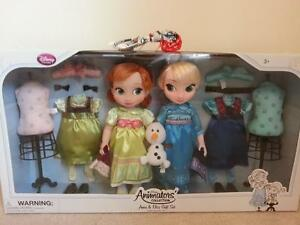 Disney Store Frozen Anna & Elsa Gift Set Animators Collection