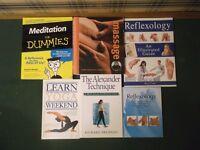 Massage, yoga & meditation books