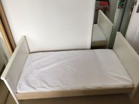 Brand new toddler bed with silent night mattress. Never been used.