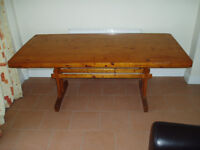 Pine Dining Table Rustic Cottage Style