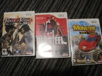 THREE - NINTENDO Wii GAMES IN CASES WITH INSTRUCTIONS