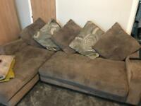 Right hand corner sofa & footstall