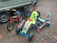 Bikes and go-kart