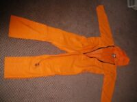 Weatherproof coverall, orange, size M