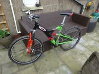 Mens Carrera Banshee Mountain bike ( front/rear suspension) - used