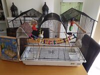 brand new parrot bird cage and toys