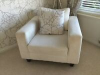 White washable 3 piece fabric suite from ex show house first offer of £150 . No offers
