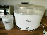 Electric steriliser and cold water steriliser