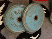2 x weight plates