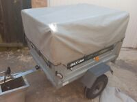 Daxara 107 trailer with high frame and cover and flat cover