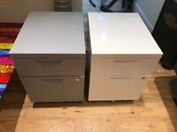 2 x2 drawer filing cabinets