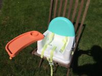 Tie-on, portable high chair for 9 months+