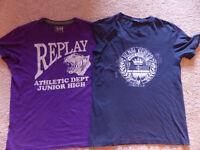 Henry Lloyd & Replay T-Shirts - Medium