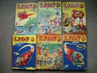 6 Vintage/Collectable LION Annuals - Offers welcome