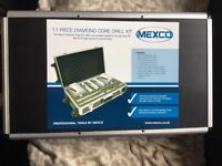11 piece Mexco diamond core drill kit brand new