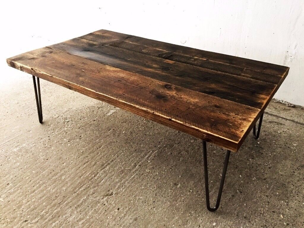 Industrial Reclaimed Timber Scaffold Board Coffee Table