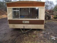 Free static Festival caravan 2 berth for collection