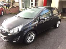 VAUXHALL CORSA 1.2 PETROL, 2013, BLACK, HALF LEATHER, HEATED SEATS *FINANCE FROM £20 PER WEEK*