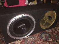Sony explode subwoofer with double box mint condition