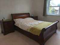 Frank Hudson Double Bed, Bedside Tables & Chest of Drawers