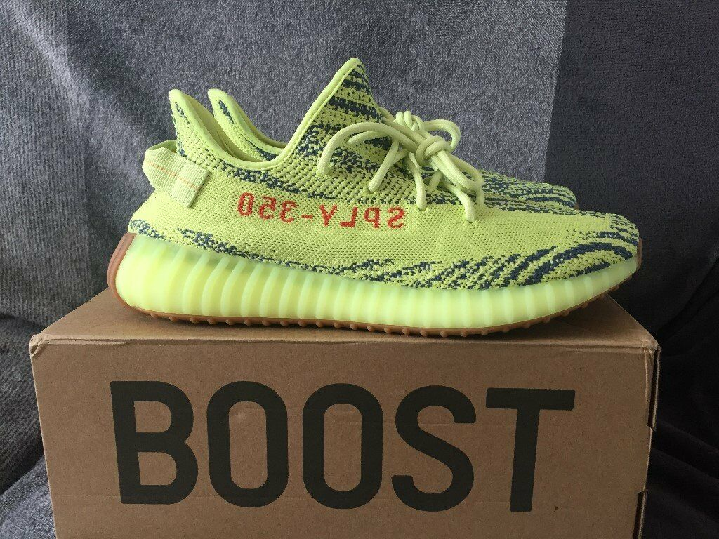 be03b529e ... italy authentic adidas yeezy boost 350 v2 semi frozen yellow uk size 11  ddb14 2b289