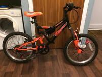 """Avigo Blaster 13"""" kids dual suspension bike"""