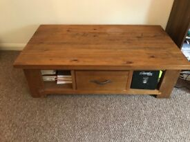 Timber Coffee Table with good storage - used, good condition