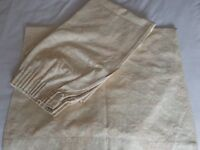 2 pairs gold/green coloured curtains