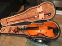 Small violin with bow in original case- must see!!