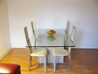 Dining Glass Table with 6 chairs