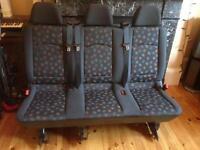 Genuine Mercedes Vito van seats, row of 3