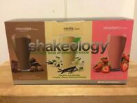 Shakeology box of 24 sachets choc vanilla strawberry superfood protein shake