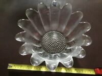 REDUCING Frank Thrower Vintage Dartington 24% Lead Crystal Daisy Bowl AND