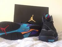 "air jordan 8's aquas worn once great condition size""10"""