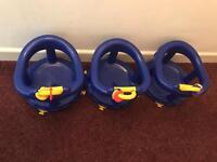 Blue baby boys bath seats £5 each